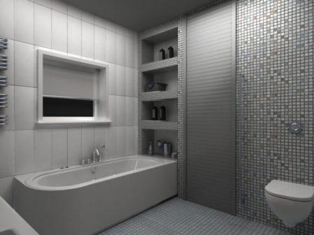 полка в ванной