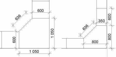 схема угловой шкаф