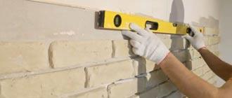 Технология укладки гипсовой плитки на стену под кирпич