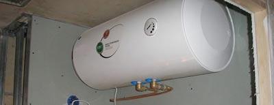 Установка водонагревателя на стену из гипсокартона