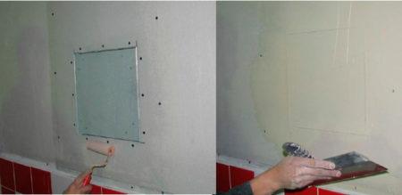 шпаклевка дверцы