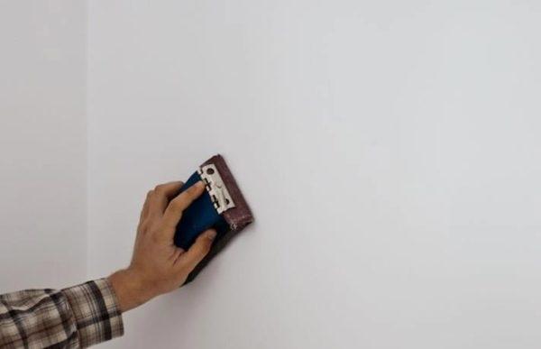 зашкурить стенку