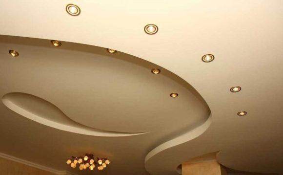 оформление потолок
