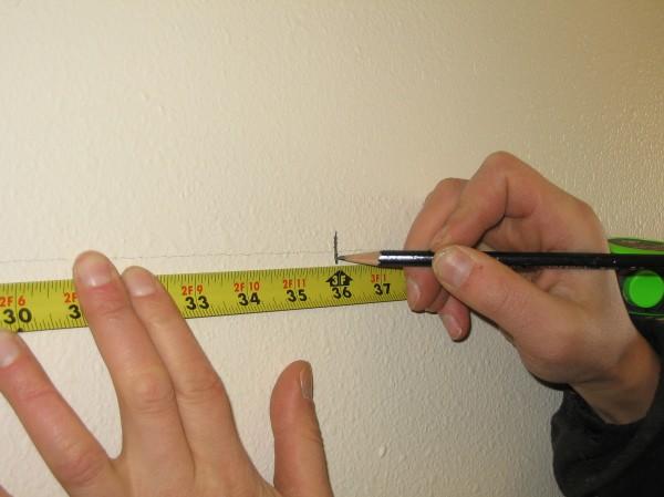 размеры и разметка для полки