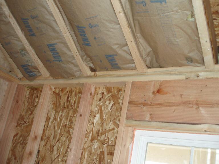 отделка гипсокартоном деревянного дома