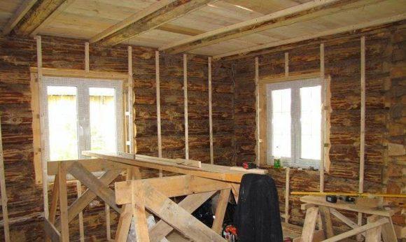 обрешетка деревянный дом