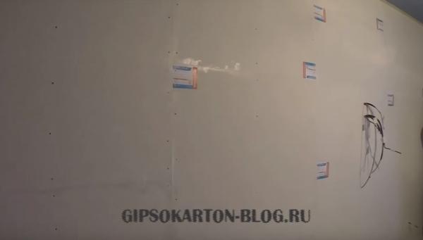 стена из гипсокартона с шумоизоляцией
