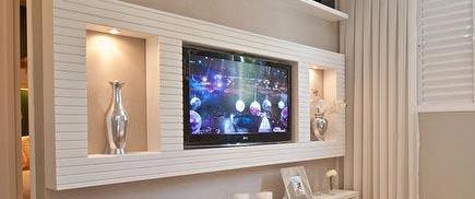 Монтаж стенки из гипсокартона для телевизора