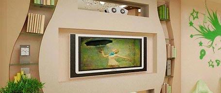 Монтаж гипсокартонной стенки для телевизора