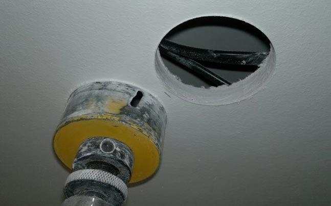 отверстия под точечные светильники в гипсокартон