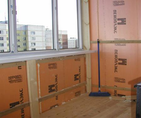 Пеноплекс на балконе