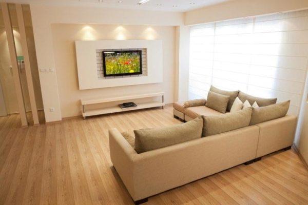 оформление стенки под телевизор