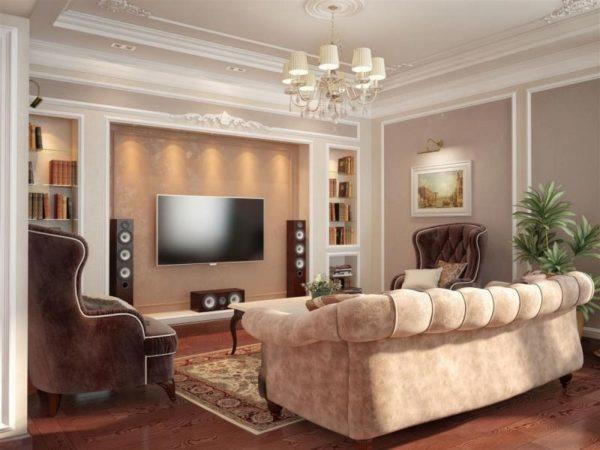 освещение ниши под телевизор