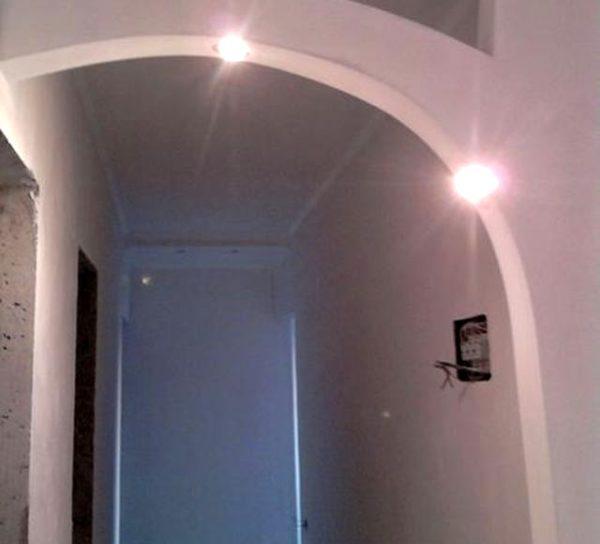 конструкция арки из гкл