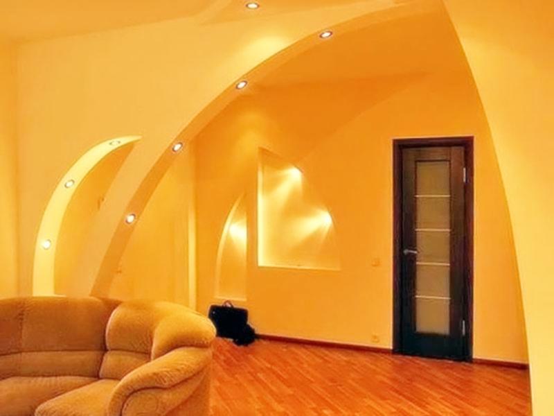 арка из гипсокартона с подсветкой