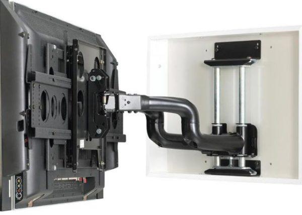 монтаж телевизора на гипсокартон