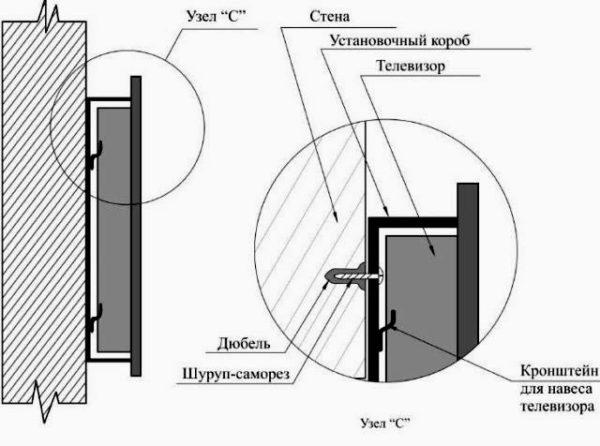 схема монтажа кронштейна