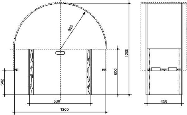 чертеж арки