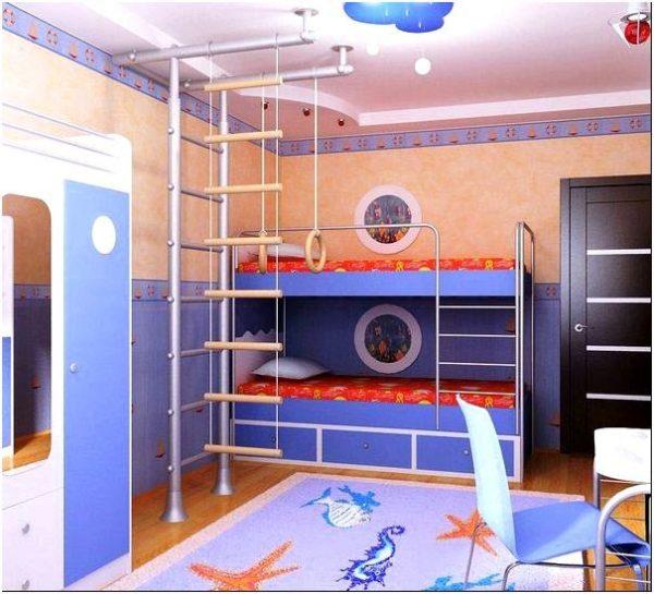 фиолетовый интерьер комнаты