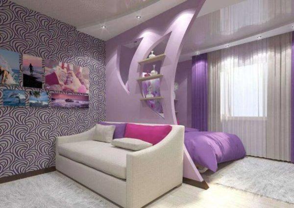 фиолетовые цвета в интерьере