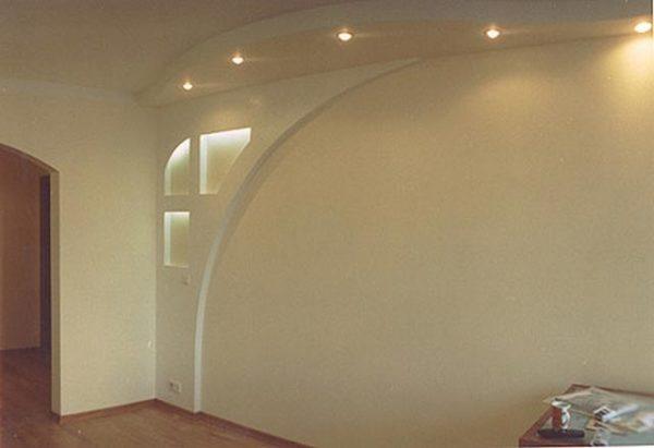 светлая дуговая арка