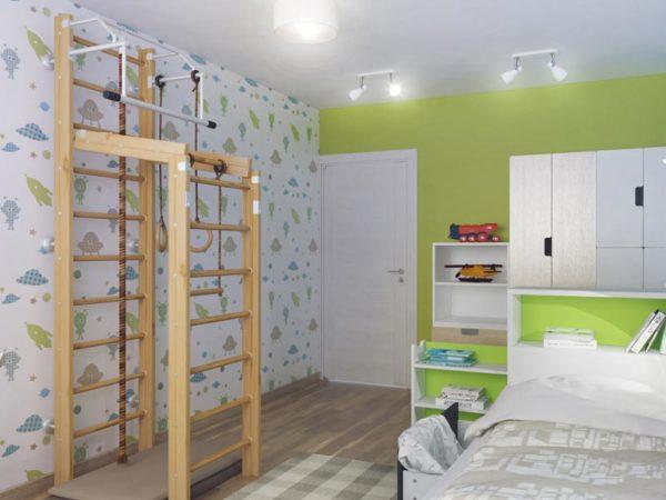 оформление комнаты со стенкой