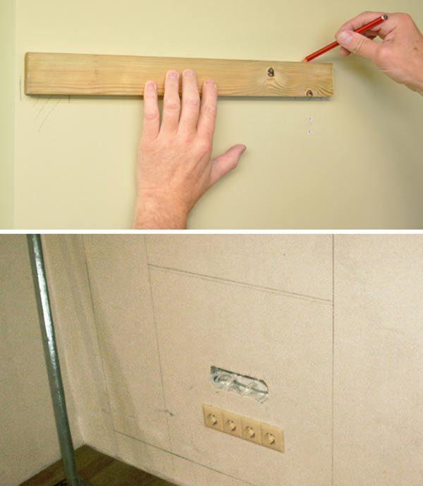 процесс разметки стен