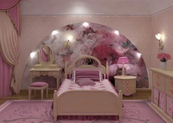 розовая  арка