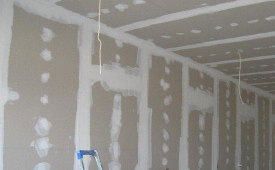 Обшивка ГК-листами стен, потолка
