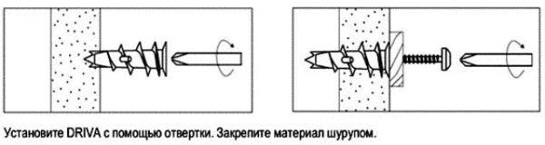 монтаж шурупов