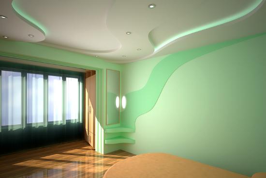 Гипсокартон на стене и на потолке