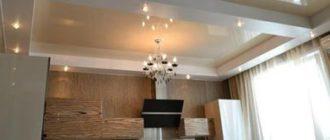 Дизайны подвесного потолка для кухни