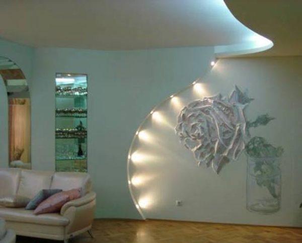 оформление арки  на стене
