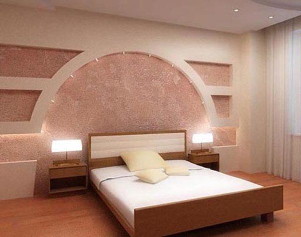 розовый дизайн с аркой