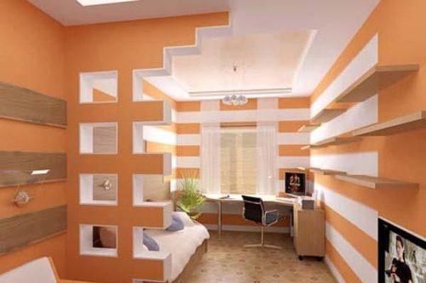 конструкуция полок в коридоре