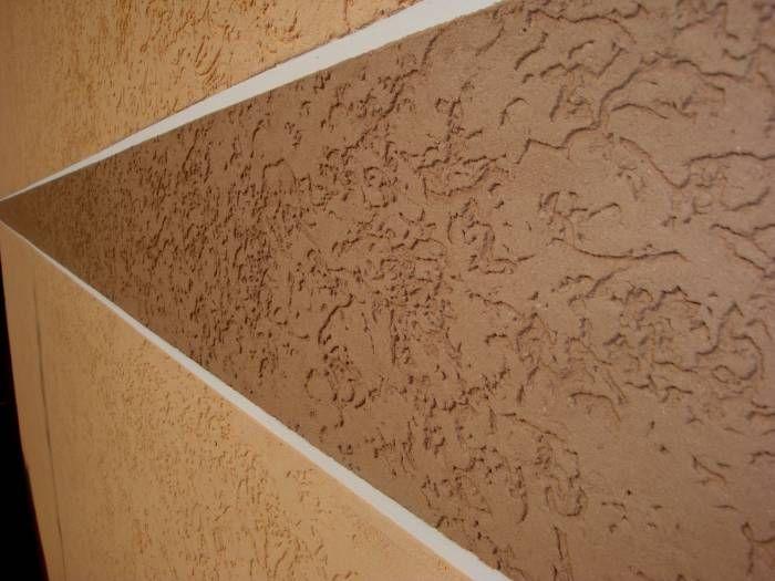 Разные цвета штукатурки на одной стене