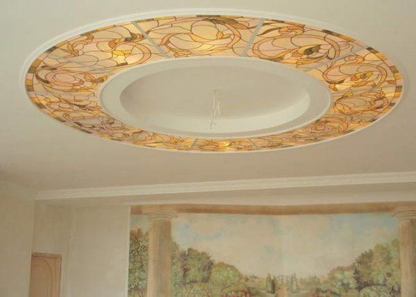 круг на потолке