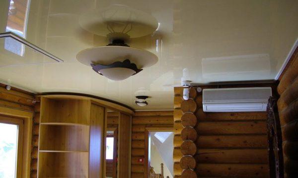 потолок в срубе