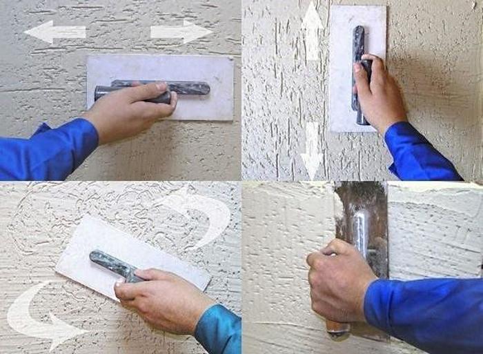 рисунок на стенке из декоративной штукатурки