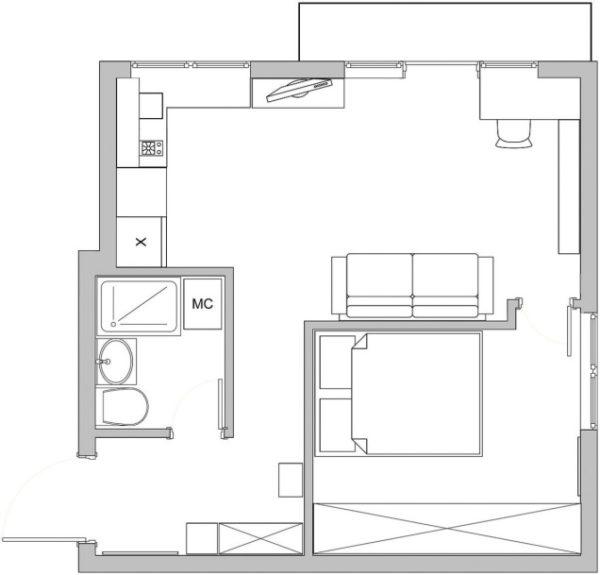 чертеж комнаты